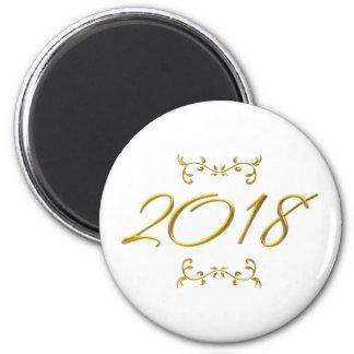 Imã Olhar 3-D dourado 2018