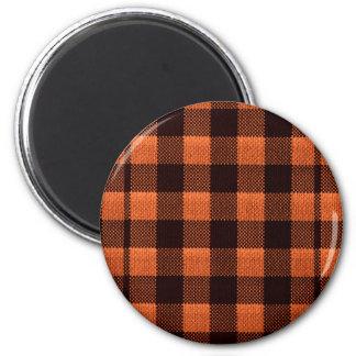 Imã Olhar Checkered de serapilheira do teste padrão do