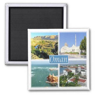 Imã OM - Oman - mosaico da colagem