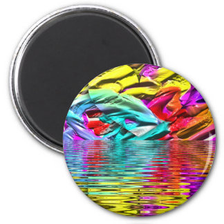 Imã Ondinhas florescentes legal da água do abstrato do