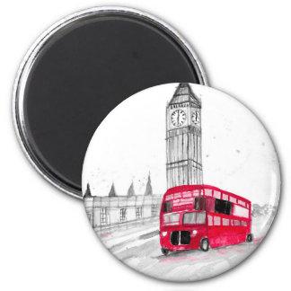 Imã Ônibus vermelho Londres