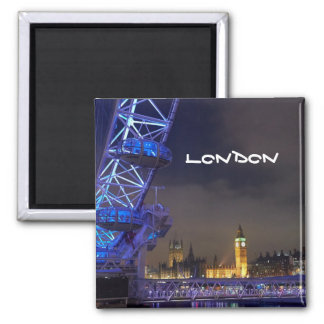 Imã Opinião BRITÂNICA do olho de Londres da paisagem