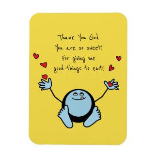 Ímã Oração da refeição das crianças azuis de Emoji