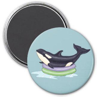 Imã Orca em uma piscina