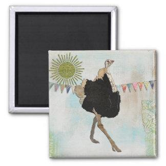 Ímã ornamentado da luz do sol da avestruz imãs