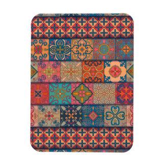 Ímã Ornamento de talavera do mosaico do vintage
