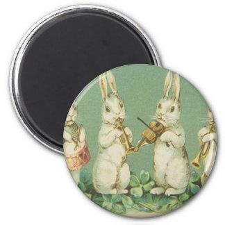 Imã Orquestra retro dos coelhos do coelhinho da Páscoa