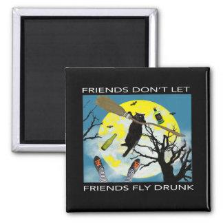 Imã Os amigos não deixam amigos voar magnate bêbedo