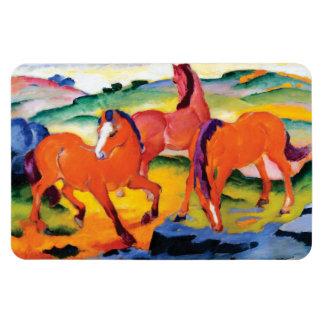 Ímã Os cavalos vermelhos por Franz Marc