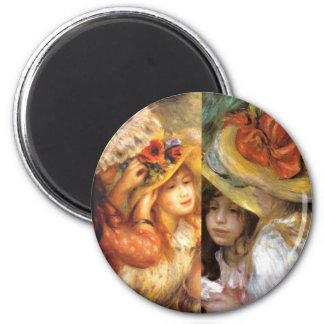 Imã Os chapéus com flores são obra-primas na arte de