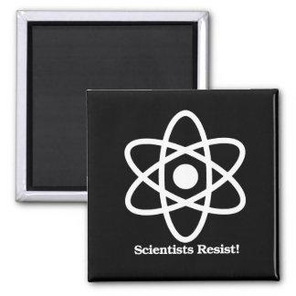 Imã Os cientistas resistem - símbolo da ciência - - a