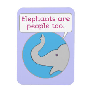 Ímã Os elefantes são pessoas demasiado