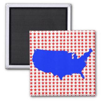 Imã Os Estados Unidos da América brancos e azuis