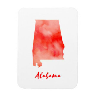 Ímã Os Estados Unidos de Alabama da aguarela