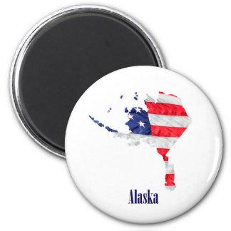 Imã Os Estados Unidos de Alaska da bandeira americana