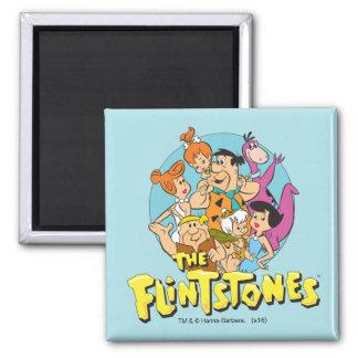 Imã Os Flintstones e o gráfico da família dos Rubbles