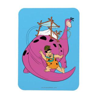 Ímã Os Flintstones | Fred que desliza abaixo da cauda
