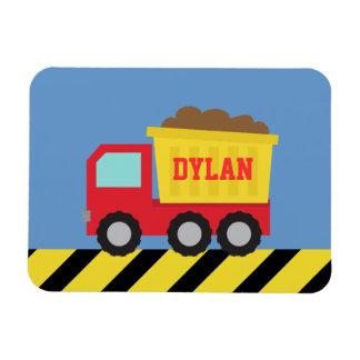 Ímã Os miúdos amarelos vermelhos do camião basculante