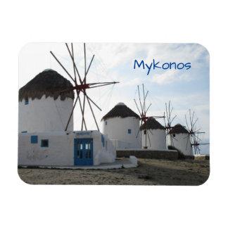 Ímã Os moinhos de vento, Mykonos, piscina