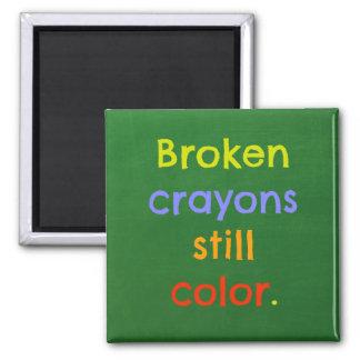 Imã Os pastéis quebrados ainda colorem - a inspiração