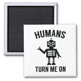 Imã Os seres humanos giram-me sobre
