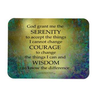Ímã Ouro da oração da serenidade em azul esverdeado
