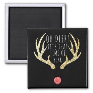 Imã Ouro dos Antlers dos cervos & festa natalícia