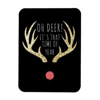 Ímã Ouro dos Antlers dos cervos & festa natalícia