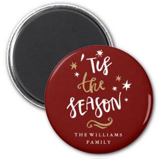 Imã Ouro vermelho moderno 'Tis de Borgonha o Natal da