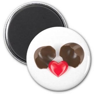 Imã Ovo e coração de chocolate