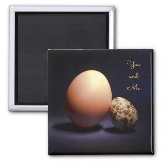 """Imã Ovos da galinha e de codorniz no amor. Texto """"você"""