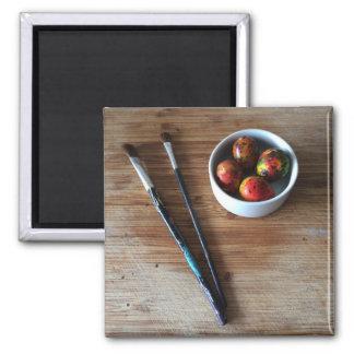 Imã Ovos de codorniz abstratos pintados