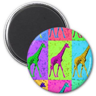 Imã Painéis de passeio do girafa do pop art