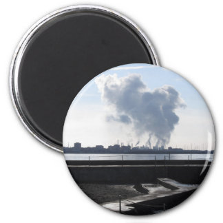 Imã Paisagem industrial ao longo da costa