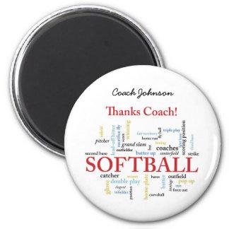 Imã Palavras do treinador do softball dos obrigados do