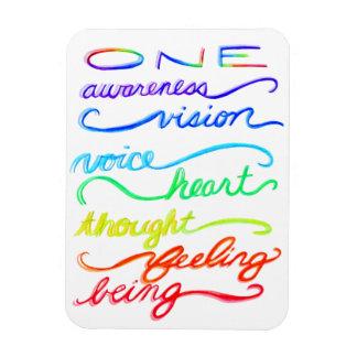 Ímã Palavras temáticos inspiradas da arte do arco-íris