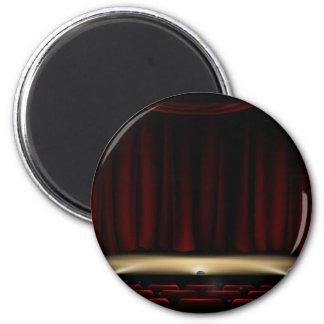 Imã Palco do teatro com cortinas do teatro