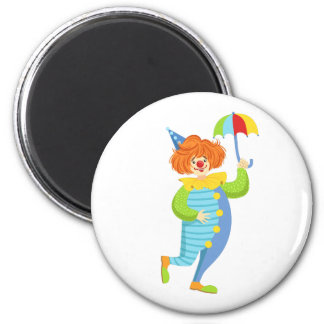 Imã Palhaço amigável colorido com mini guarda-chuva