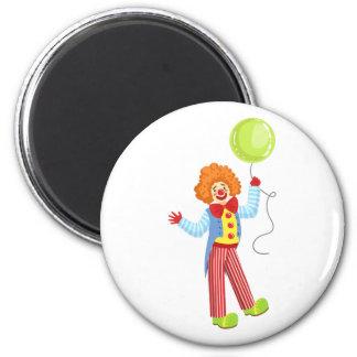 Imã Palhaço amigável colorido com o balão na OU