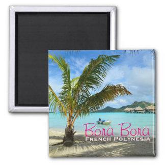 Imã Palmeira no ímã do texto de Bora Bora