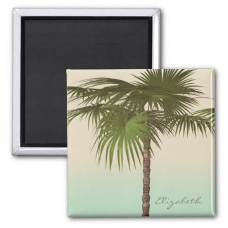 Imã Palmeira tropical romântica - personalizada