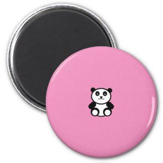 Imã Panda bonito no rosa Pastel