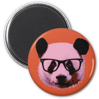 Imã Panda com vidros na laranja