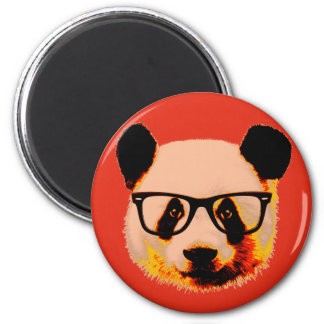 Imã Panda com vidros no vermelho