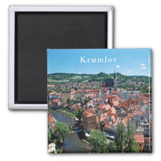 Imã Panorama da cidade de Cesky Krumlov.