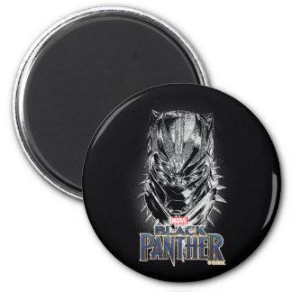 Imã Pantera preta esboço principal preto & branco de |