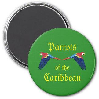 Imã Papagaios do verde do caribe