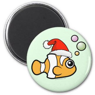 Imã Papai noel de Clownfish dos desenhos animados