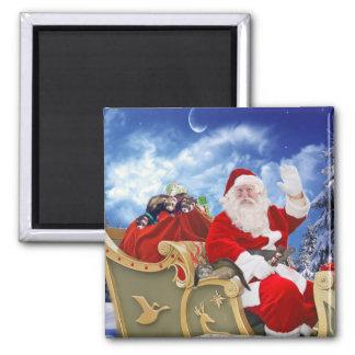 Imã Papai Noel e seu ímã do Natal das doninhas