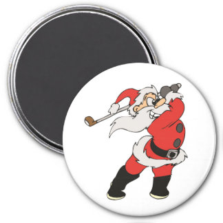 Imã Papai Noel que joga o golfe